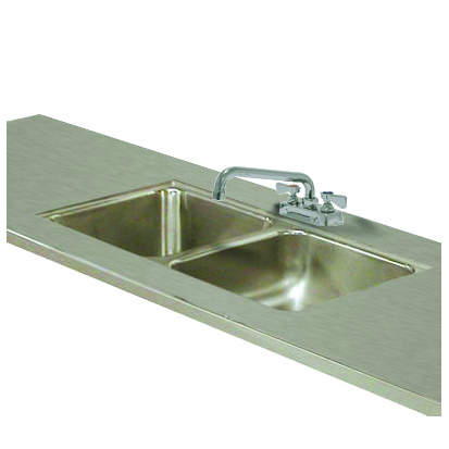 Advance Tabco TA-11A-2 Double Sink Welded Into Table Top