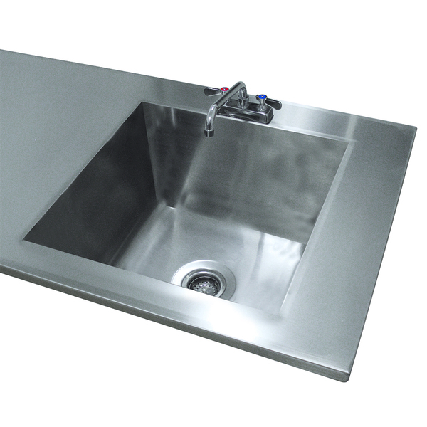 Advance Tabco TA-11J Sink Welded Into Table Top