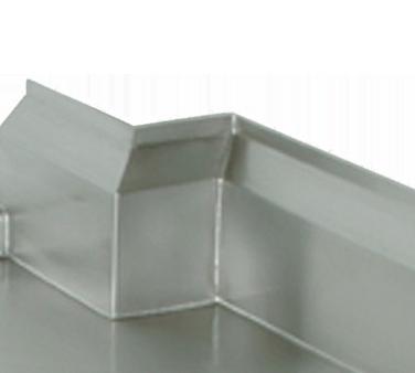 Advance Tabco TA-8 Column notch (includes box-out splash)