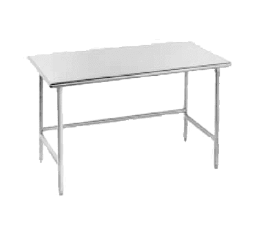 """Advance Tabco TMS-302 Work Table, 16 Gauge Stainless Steel Top with Open Base, Stainless Steel Legs and without Backsplash - 24""""W x 30""""D x 35.5""""H"""