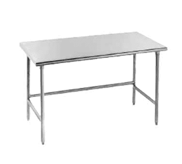 """Advance Tabco TSAG-3012 Work Table, 16 Gauge Stainless Steel Top with Open Base, Stainless Steel Legs and without Backsplash - 144""""W x 30""""D x 35.5""""H"""