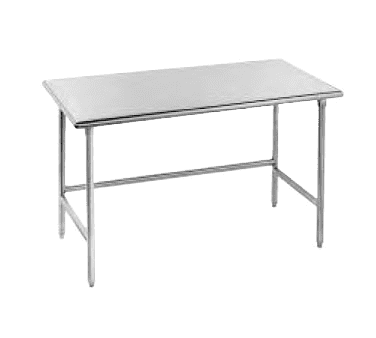 """Advance Tabco TSS-3612 Work Table, 14 Gauge Stainless Steel Top with Open Base, Stainless Steel Legs and without Backsplash - 144""""W x 36""""D x 35.5""""H"""