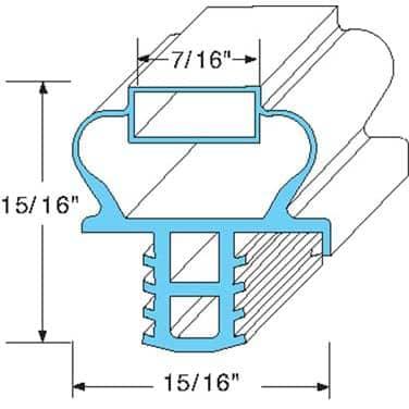 AllPoints Foodservice Parts & Supplies 74-1262 Door Gasket