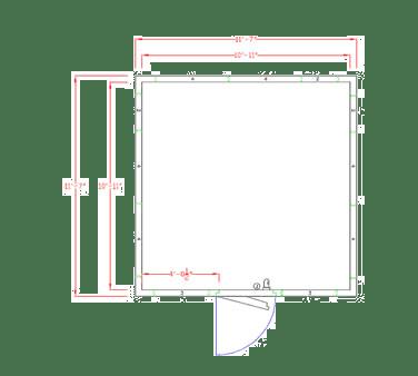 American Panel Corporation 12X12F-I Walk-In Freezer