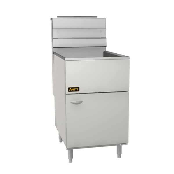 Anets Anets 70AS 60-80 lb. Stainless Steel Gas Floor Model Full Pot Fryer with Millivolt Controls - 150,000 BTU