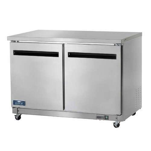 Arctic Air AUC48F 48.25'' 2 Door Counter Height Worktop Freezer with Side / Rear Breathing Compressor - 12.0 cu. ft.