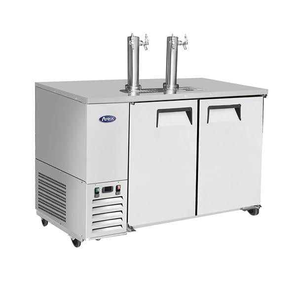 Atosa USA Atosa USA MKC58GR 2 Taps 1/2 Barrel Draft Beer Cooler - Stainless Steel, 2 Kegs Capacity, 115 Volts