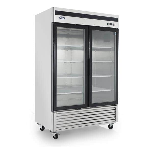 Atosa USA MCF8707GR 54.38'' Silver 2 Section Swing Refrigerated Glass Door Merchandiser