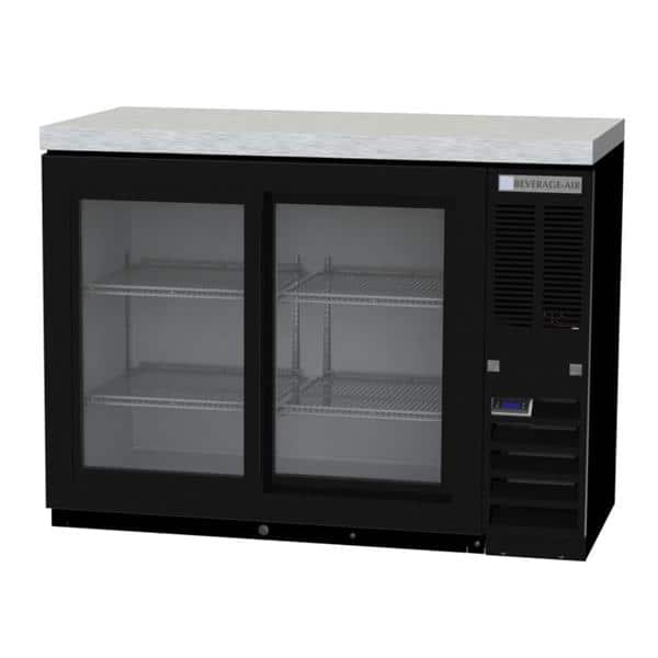 Beverage Air BB48HC-1-F-GS-B Refrigerated Food Rated Back Bar Storage Cabinet