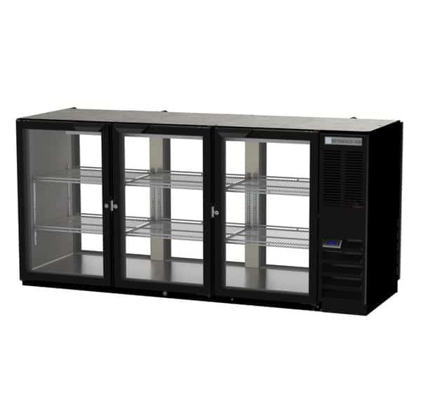 Beverage Air BB72HC-1-F-G-PT-S-27 Refrigerated Open Food Rated Back Bar Pass-Thru