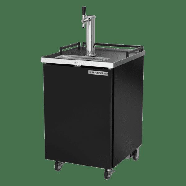 Beverage Air BM23HC-B 1 Tap 1/2 Barrel Draft Beer Cooler - Black, 1 Keg Capacity, 115 Volts