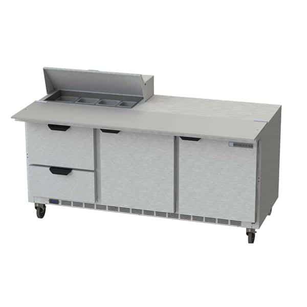 Beverage Air SPED72HC-08C-2 Elite Series™ Sandwich Top Refrigerated Counter