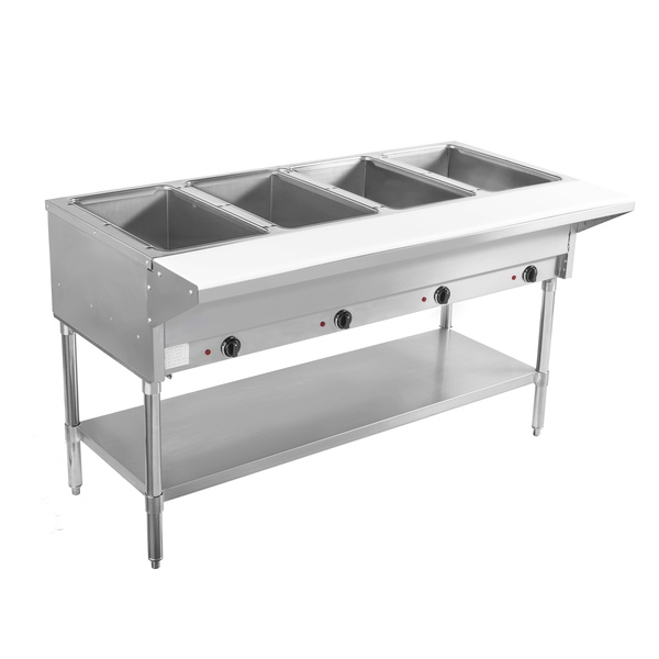 Bevles BVST-4-120 Electric Hot Food Serving Counter with Controls,