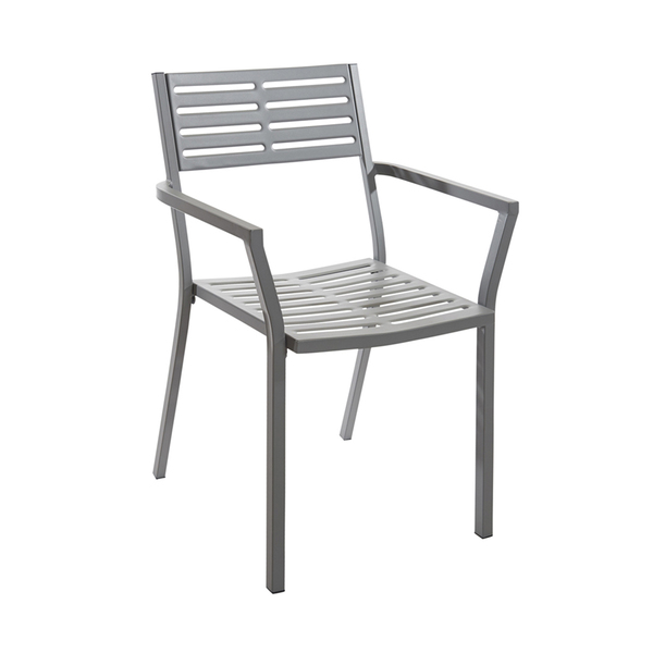 BFM SU2811CSG Daytona Stacking Armchair  stamped steel slotted back and seat