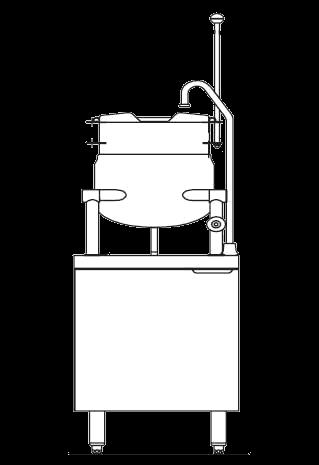 Blodgett Steam CB24E-6K Kettle/Stand Assembly