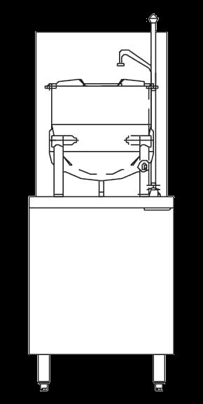 Blodgett Steam CB24G-6K Kettle/Stand Assembly