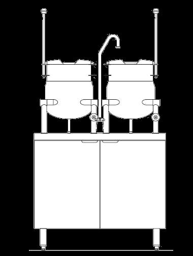 Blodgett Steam CB36E-6-6K Kettle/Stand Assembly