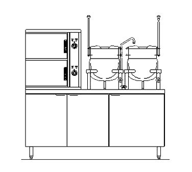 Blodgett Steam SB-10E-6-10K Combination Steamer