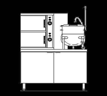 Blodgett Steam SB-10G-6K Combination Steamer