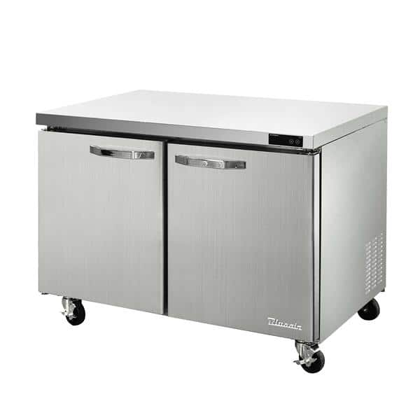 Blue Air BLUR48-HC 48.38'' 2 Section Undercounter Refrigerator with 2 Left/Right Hinged Solid Doors and Side / Rear Breathing Compressor