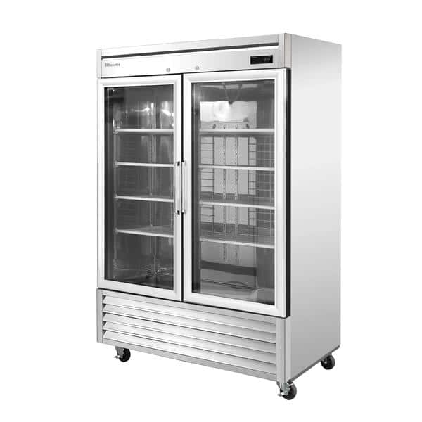 Blue Air BSR49G-HC 54'' 49 cu. ft. Bottom Mounted 2 Section Glass Door Reach-In Refrigerator