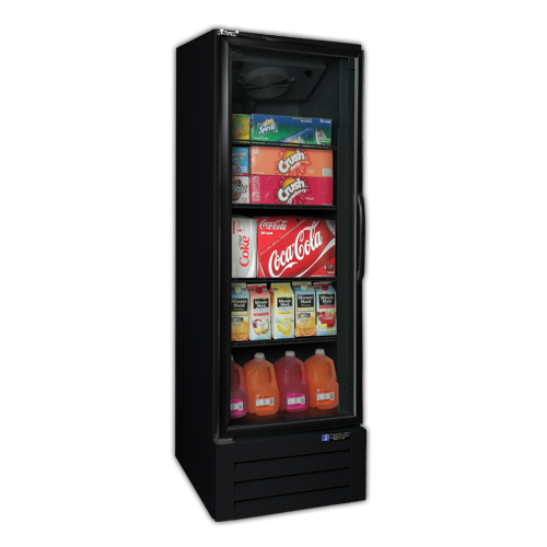 Master-Bilt BMG-23-HGP 27'' Black 1 Section Swing Refrigerated Glass Door Merchandiser