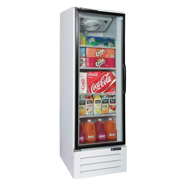 Master-Bilt BMG-27-HGP 30'' White 1 Section Swing Refrigerated Glass Door Merchandiser