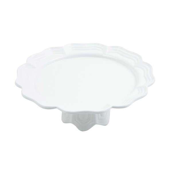 Bon Chef 20679058SMOKEGRA Queen Anne Pedestal Platter