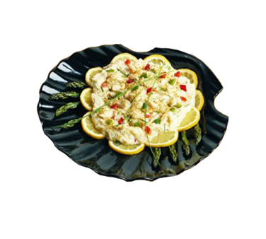 Bon Chef 5075BLKSPKLD Serving Shell