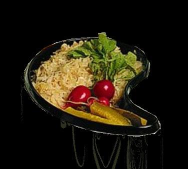 Bon Chef 5104BLKSPKLD Ying & Yang Bowl
