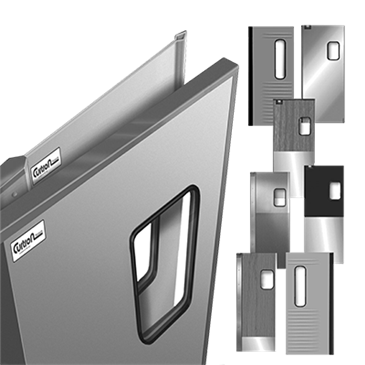 Curtron Products Products SPD-30-L-GK-DBL-4284 Service-Pro® Series 30 Double Swinging Door