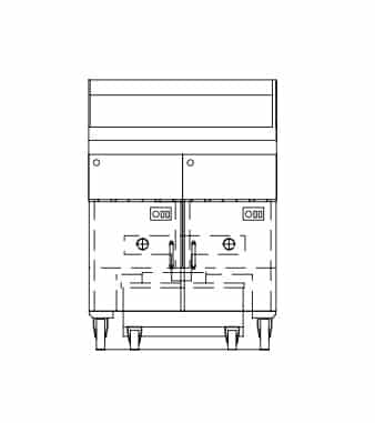 Dean Industries SCFD250G Decathlon Performance Fryer Battery
