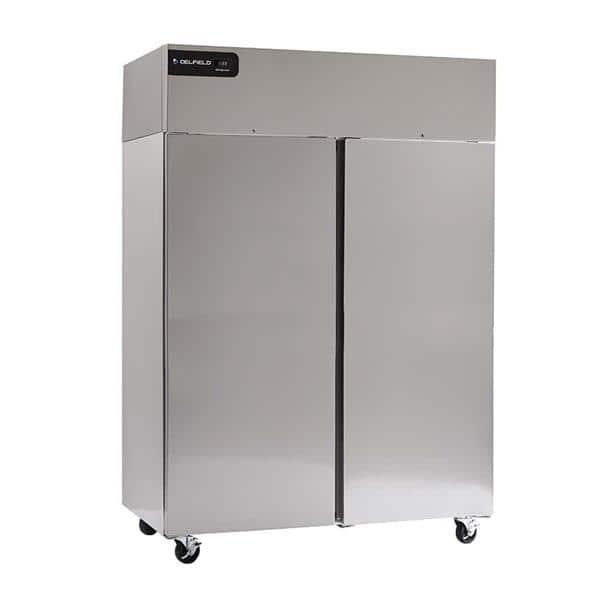 Delfield GBR2P-S 55.2'' 46 cu. ft. Top Mounted 2 Section Solid Door Reach-In Refrigerator