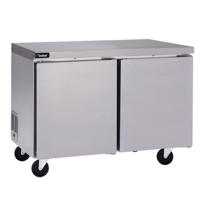 Delfield Delfield GUF32P-S 32'' 1 Section Undercounter Freezer with 1 Right Hinged Solid Door and Side / Rear Breathing Compressor