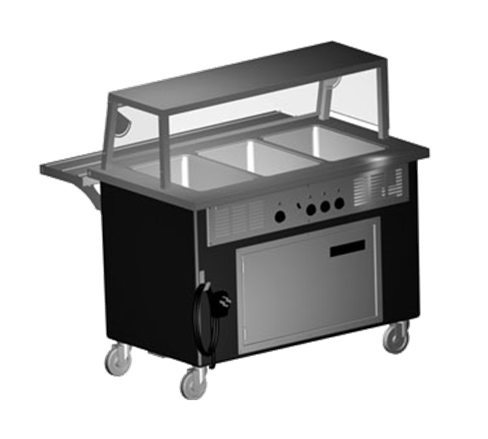 Delfield KH-4 Shelleyglas® Hot Food Serving Counter