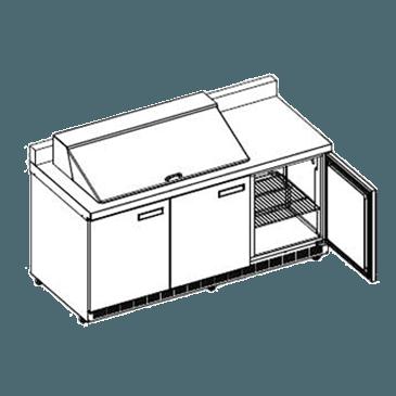 Delfield ST4472N-18M Mega Sandwich/Salad Top Refrigerator