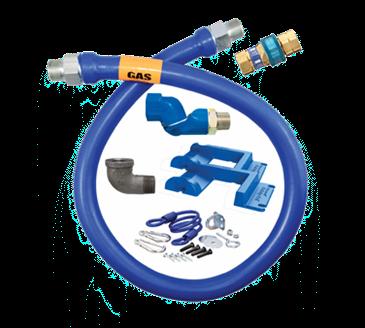 Dormont Manufacturing Manufacturing 16100BPQSR48BXPS Dormont Blue Hose™ Moveable Gas Connector Hose