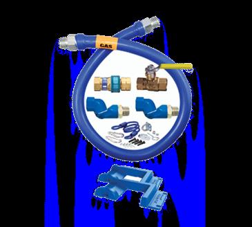 Dormont Manufacturing Manufacturing 16100KIT2S72PS Dormont Blue Hose™ Moveable Gas Connector Kit