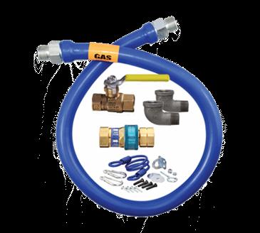 Dormont Manufacturing Manufacturing 16100KIT48 Dormont Blue Hose™ Moveable Gas Connector Kit