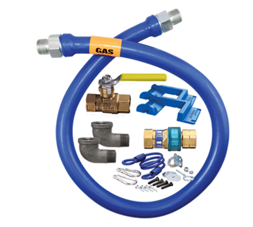 Dormont Manufacturing Manufacturing 16100KIT72PS Dormont Blue Hose™ Moveable Gas Connector Kit