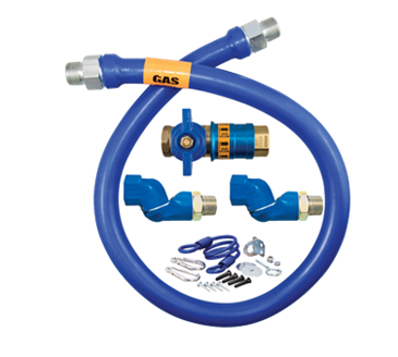 Dormont Manufacturing Manufacturing 16100KITCF2S24 Dormont Blue Hose™ Moveable Gas Connector Kit