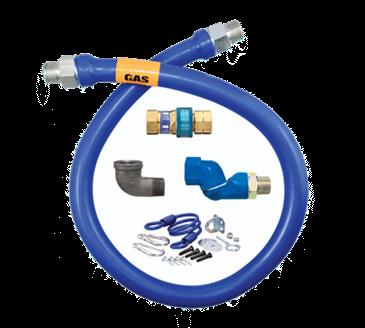 Dormont Manufacturing Manufacturing 1650BPQSR48BX Dormont Blue Hose™ Moveable Gas Connector Hose