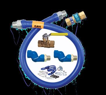 Dormont Manufacturing Manufacturing 1650KIT2S72 Dormont Blue Hose™ Moveable Gas Connector Kit