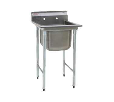 """Eagle Group 314-16-1-24L Commercial Sink, (1) One Compartment, Stainless Steel Construction with Galvanized Steel Legs and With Left-hand Drainboard - 44.88"""" W"""