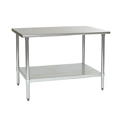 """Eagle Group BPT-2436EB Work Table, 16 Gauge Stainless Steel Top with Galvanized Steel Undershelf and without Backsplash - 36""""W x 24""""D"""