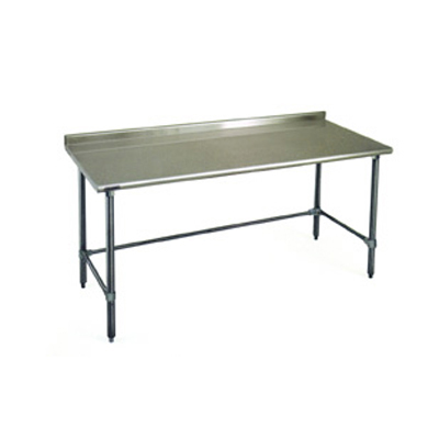 """Eagle Group BPT-2436GTEB-UT Work Table, 16 Gauge Stainless Steel Top with Open Base and 1 1/2"""" Backsplash - 36""""W x 24""""D"""