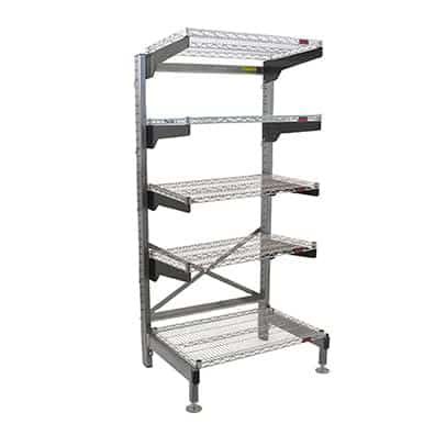"""Eagle Group Q1860V76-5 Q-LEVER Cantilever Shelving Unit,  5-tier,  64""""W x 23""""D x 76""""H overall size"""