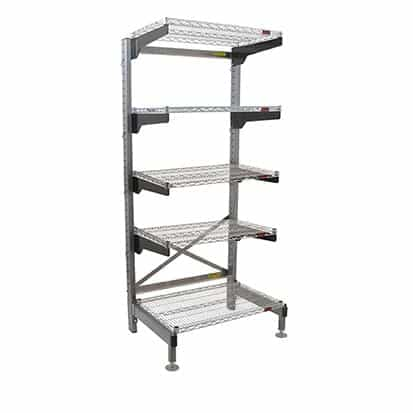 """Eagle Group Q3030VG86-5 Q-LEVER Cantilever Shelving Unit,  5-tier,  34""""W x 35""""D x 86""""H overall size"""