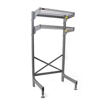 Eagle Group Q3036V76-OS Q-LEVER Overhead Storage Station,  (2) adjustable shelves with Valu-Master® gray epoxy finish