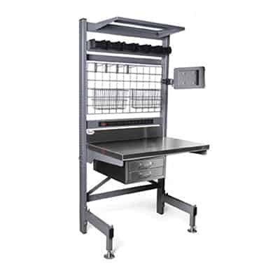 Eagle Group Q3060V76-MS Q-LEVER Manager's Station, (2) uprights with Valu-Master® gray epoxy finish